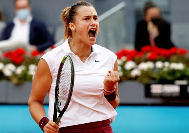 Aryna Sabalenka a fait parler sa puissance ce samedi à Madrid - © Abaca - Icon Sport