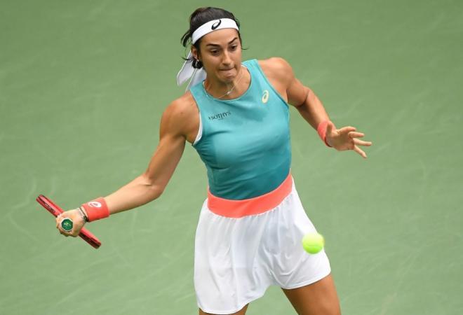 Caroline Garcia a dominé Angélique Kerber ce lundi au 1er tour à Dubaï - © Susa - Icon Sport