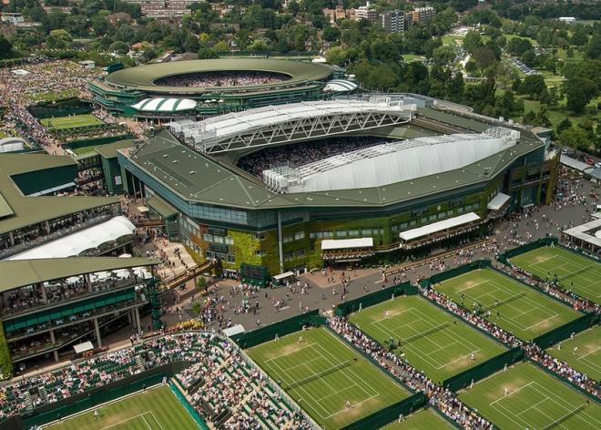 La vue aérienne du complexe de Wimbledon, dont l'édition 2020 n'aura pas lieu - © DR