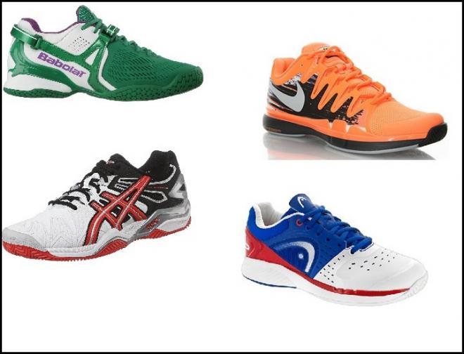 Quatre nouveautés, à titre d'exemple, chez les équipementiers Babolat, Nike, Asics et Head -  © DR