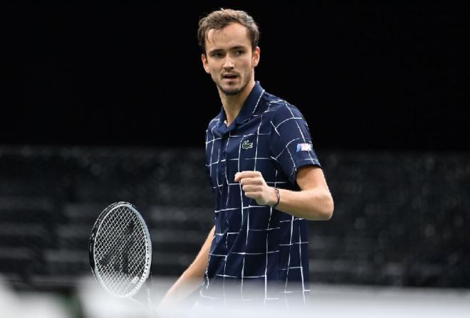 Très gros match de Daniil Medvedev qui s'est qualifié pour sa première finale de Masters - © Tec - RG