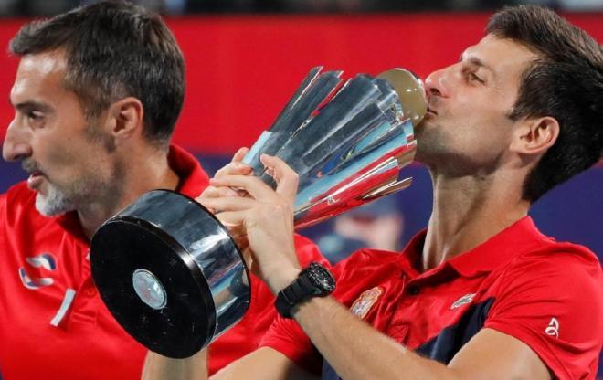 Le Capitaine Nenad Zimonjic ( à gauche) et Novak Djokovic ont remporté la 1ère ATP Cup - © DR