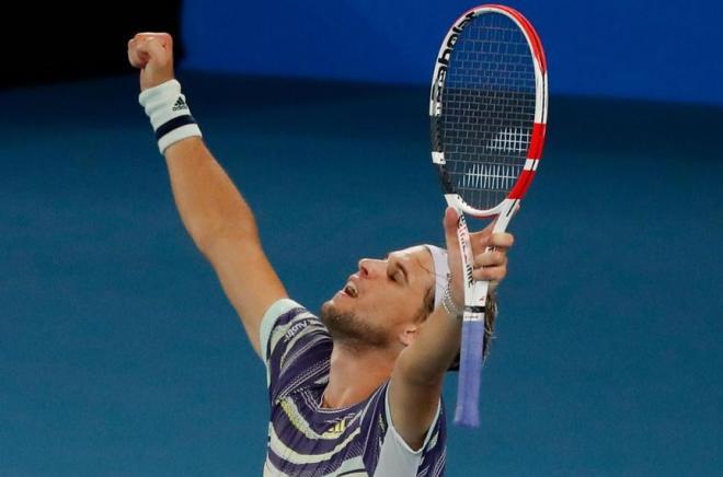 Dominic Thiem s'est qualifié pour la 1ère fois de sa carrière en finale de l'Open d'Australie - © DR