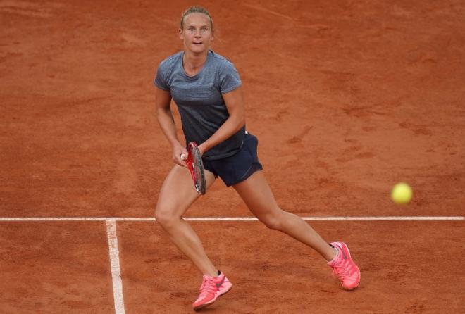 1ère qualification au 3ème tour de RG pour Fiona Ferro - © FFT