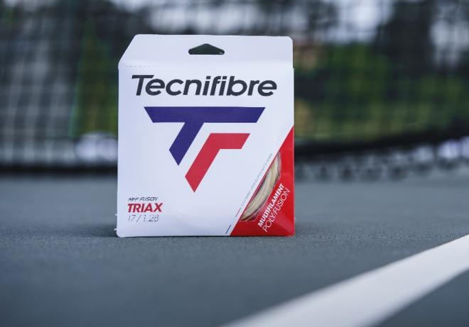 Le nouveau cordage TRIAX de Tecnifibre est lancé ce lundi 20 juillet en magasins - © DR
