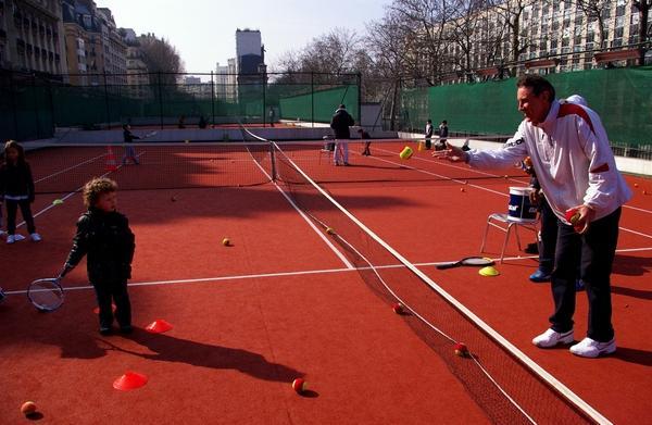 Christophe Roger-Vasselin sur les courts de Flandrin, Paris XVIème - © Tennisleader