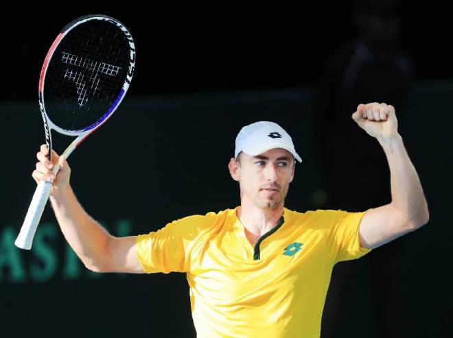 L'Australien John Millman a apporté le 3ème point à son pays en qualifs' de Coupe Davis. - © DR