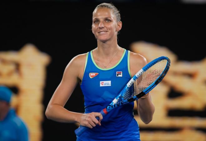 Karolina Pliskova s'est hissée en 1/4 à Dubaï grâce à sa nette victoire en deux manches face à la Française Kristina Mladenovic - © DR