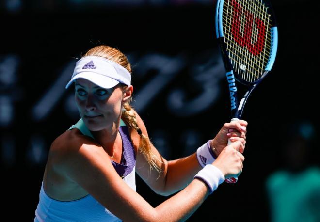 Kristina Mladenovic a enregistré sa plus belle victoire de la saison ce mardi à Rome  - © Susa - Icon Sport