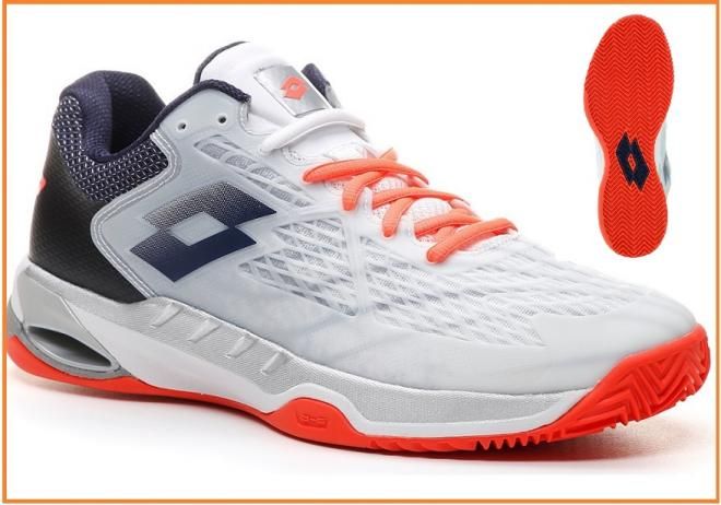Plus légère, plus trendy voici la nouvelle chaussure Lotto Mirage 100, en version clay  - © Lotto