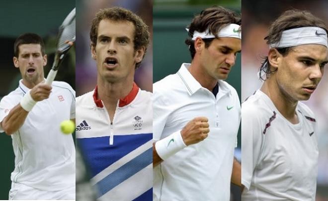 Djokovic, Murray, Federer, Nadal : les duels entre membres du Big Four pour le titre à Wimbledon promettent d'être intenses  - © DR