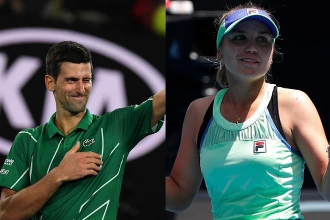 Novak Djokovic (à gauche) et Sofia Kenin, les deux vainqueurs de l'Open d'Australie 2020 - © DR