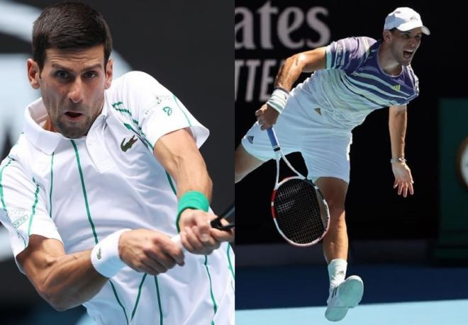 Novak Djokovic sera l'immense favori de la finale ce dimanche à Melbourne face à Dominic Thiem - © DR