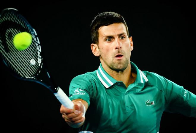 Novak Djokovic s'est qualifié ce jeudi pour sa 9ème finale de l'Open d'Australie - © Belga - Icon Sport