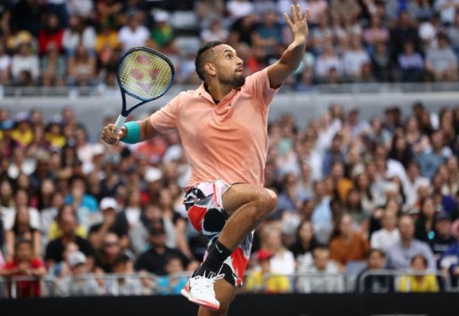 Nick Kyrgios devra se montrer aérien et efficace face à Rafael Nadal en 1/8èmes de finale - © DR