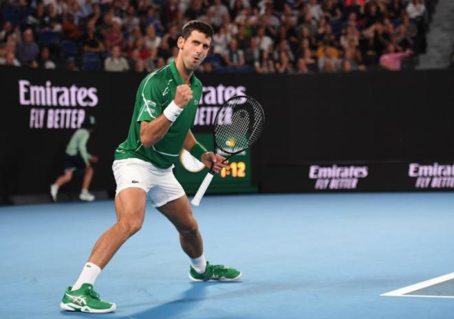 Novak Djokovic s'est qualifié ce jeudi pour sa 8ème finale à Melbourne - © DR