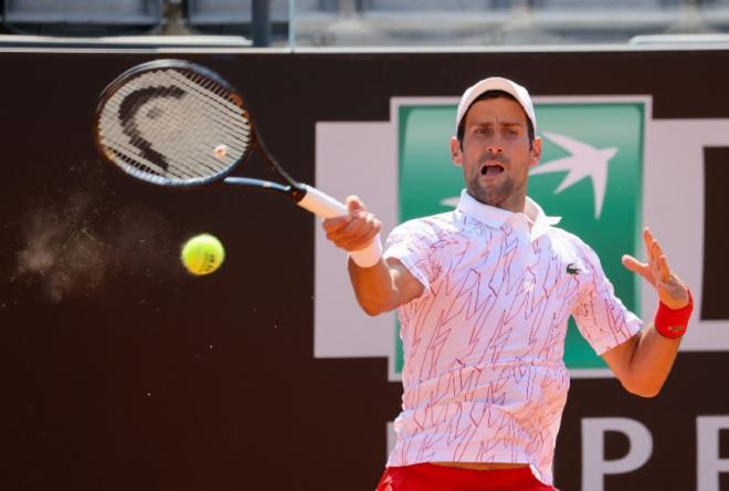 Novak Djokovic a assuré l'essentiel ce dimanche à Rome - © DR