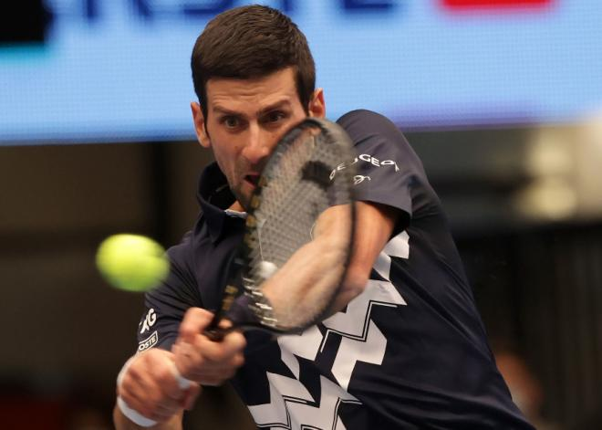 Novak Djokovic s'est qualifié pour sa 9ème 1/2 finale de Masters ce vendredi - © Gepa - Icon Sport
