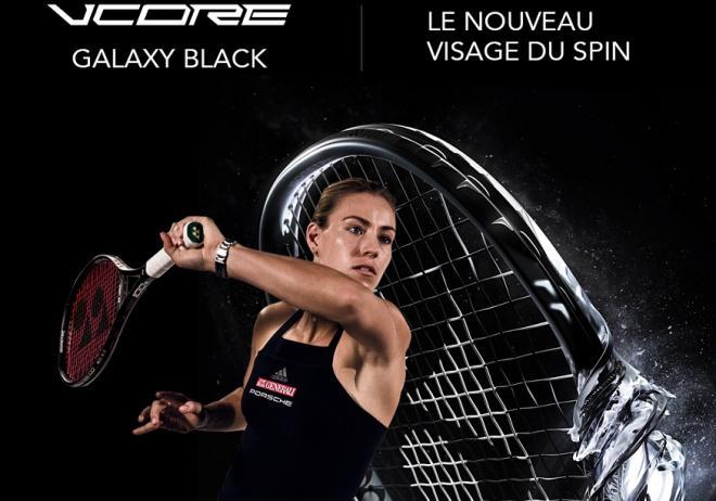 Angélique Kerber joue actuellement avec la raquette Yonex VCore Galaxy Black - © DR