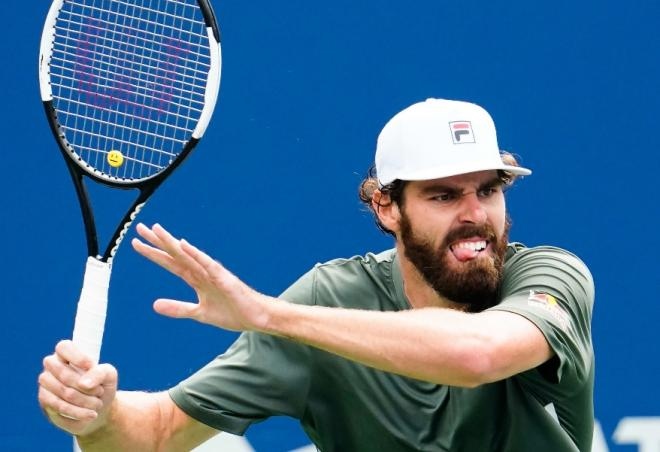 Reilly Opelka a réalisé un remarquable match ce samedi face à Tsitsipas - © Susa - Icon Sport