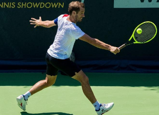 Pratiquant un excellent tennis, Richard Gasquet s'est imposé d'entrée ce samedi à l'UTS - © DR