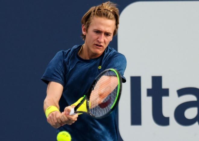 En pleine progression, l'Américain Sebastian Korda est en 1/4 de finale à Miami - © Susa - Icon Sport
