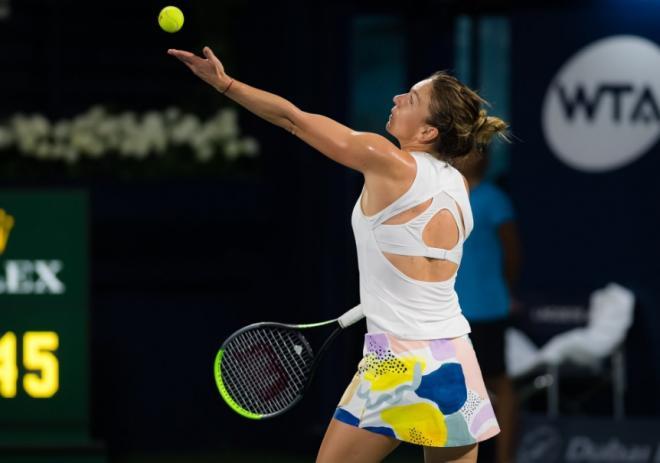 Très solide, Simona Halep a remporté ce samedi le tournoi de Dubaï au terme d'un combat spectaculaire face à Elena Rybakina - © DR