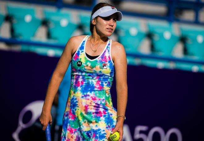 Sofia Kenin n'a fait illusion qu'un set ce lundi à Abu Dhabi - © Abaca - Icon Sport