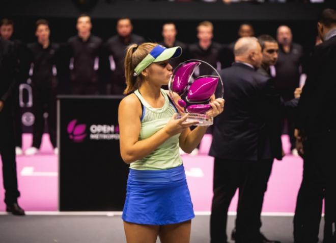 Sofia Kenin a remporté ce dimanche le nouveau tournoi WTA de Lyon en battant en finale l'Allemande Anna-Lena Friedsam - © DR